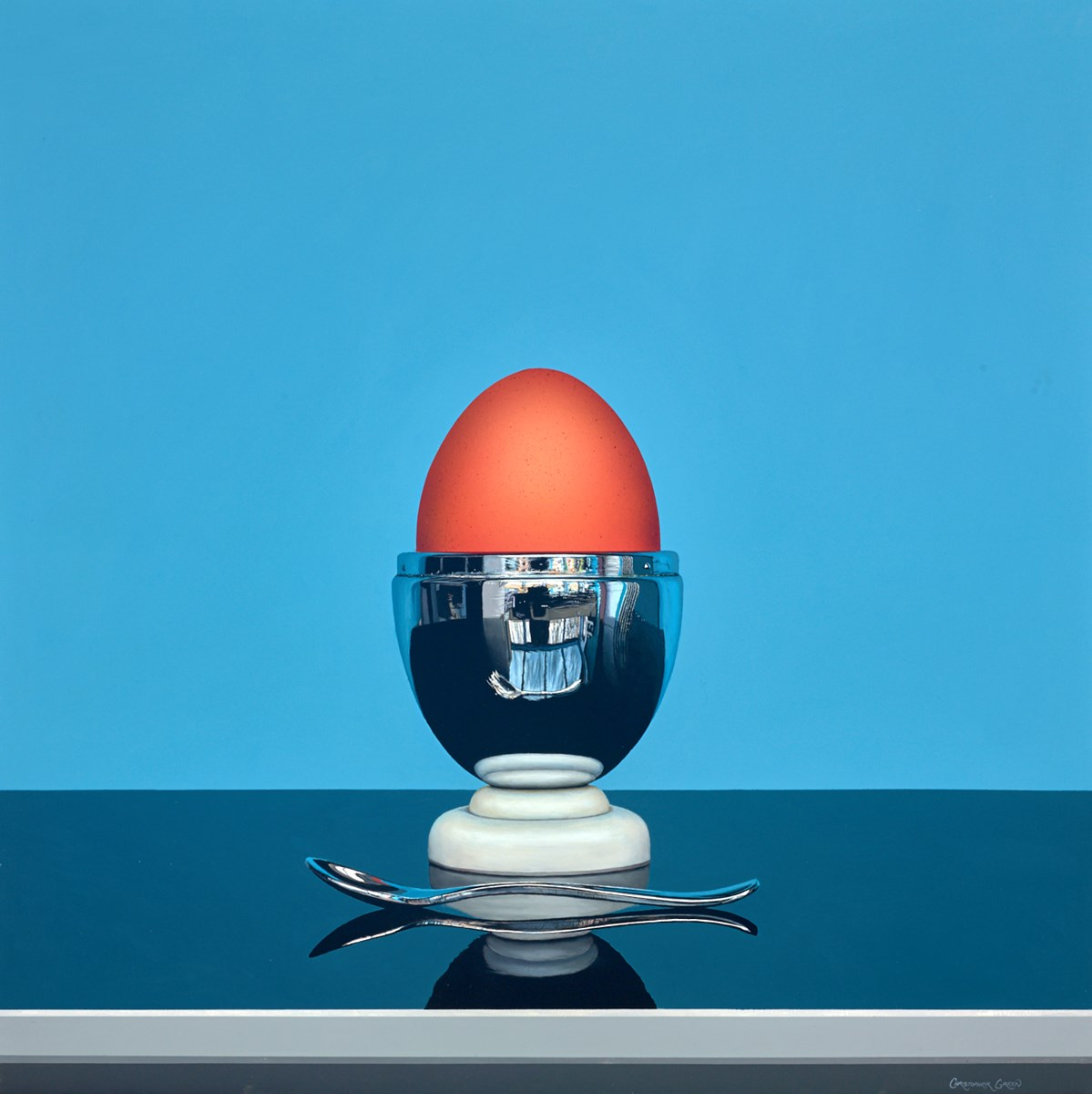 Egg Cup on Blue II